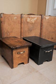 Box bench storage bench by woodcraftqueen on Etsy, $125.00