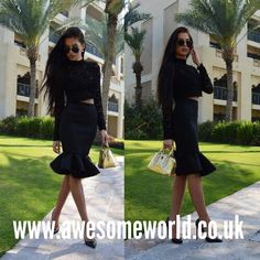 Yay or Nay? Ladies, if yes you must go to  www.awesomeworld.co.uk  We have a #gorgeous #set (#skirt&#top) at our sexy store    Dress dresses set 2 two pieces top tops crop skirt long knee length sexy elegant push up bootie bodycon leather lace outfits outfit luxury glam luxury glamorous lilly ghalichi celebrity celeb blogger fashion style black louboutins high heels gold nag christian louboutin work day night wear out date love sexy