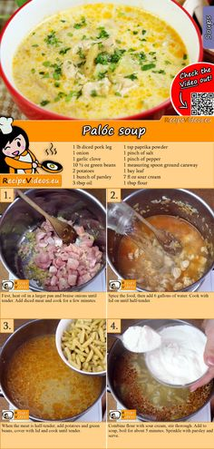 The Palóc soup is a real traditional Hungarian soup recipe! You can easily find the Palóc Soup recipe by scanning the QR code in the top right corner! Hungarian Cuisine, Hungarian Recipes, Hungarian Food, Soup Recipes, Cooking Recipes, Healthy Recipes, Do It Yourself Food, Good Food, Yummy Food