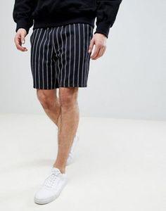 ASOS Slim Shorts In Navy Stripe