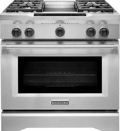 KitchenAid   5.1 Cu. Ft. Self Cleaning Freestanding Dual Fuel Convection  Range