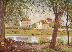 Village on the banks of the Seine, 1872  Alfred Sisley