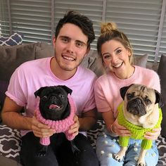 """""""Asking permission from and to date their pug daughter Nala"""" -Doug Pug Mops, Jack Maynard, Doug The Pug, Zoe Sugg, Ace Family, Pug Pictures, Vlog Squad, Zoella, Phil Lester"""