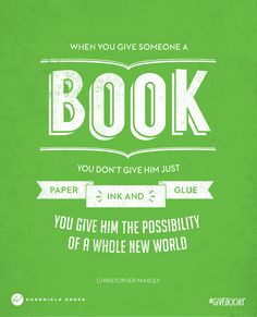 #GiveBooks this holiday!