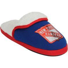 New York Rangers Women's Glitter Patch Slippers