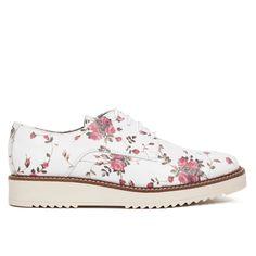Zapato Blucher mujer Flores Blanco Piel - Zapatos online miMaO – miMaO  ShopOnline 7b765eddca27