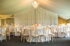 Stunning Wedding breakfast setup for Sarah & Greg who married in July 2014 at Combermere Abbey - table numbers by I Do designs