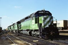 https://flic.kr/p/wwqkfP | BN SD45 6446 | Burlington Northern Railroad SD45 6446 at Clyde, Illinois on an unknown day in November 1979, Kodachrome by Chuck Zeiler.