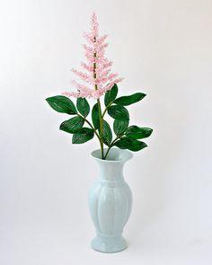 French Beaded Flower Astilbe by Lauren Harpster