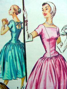 Vintage 1950's McCall Pattern 3604   GORGEOUS Cocktail by anne8865, $44.00