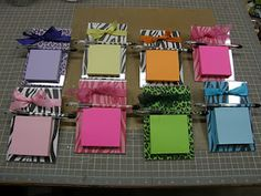Cute Post-it Note Holders & Final Beermug project Post It Note Holders, Cute Posts, Back To School Gifts, Mothers Day Crafts, Craft Items, Teacher Gifts, Teacher Stuff, Craft Fairs, Gifts For Kids