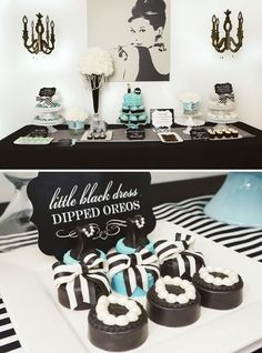 Glitz Glam Audrey Hepburn Inspired Party Tiffany ThemeTiffany STiffany Party30th Birthday PartiesBirthday IdeasElegant