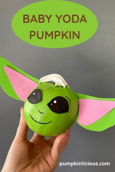 Yoda Pumpkin Painting Pumpkin Stencil, Pumpkin Painting, Winnie The Pooh Pumpkin, Disney Pumpkin Carving Patterns, Halloween Crafts For Kids, Kids Crafts, Ghost Crafts, Monster Crafts, Fall Arts And Crafts