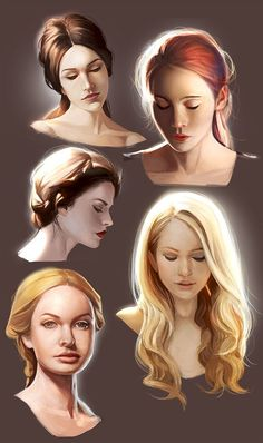 mannequin-atelier's deviantART gallery / A lot of Kione in these, though bottom left is more like Jocelyn