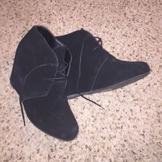 Dolve Vita black booties Worn once. Excellent condition. Suede is in great condition Dolce Vita Shoes Ankle Boots & Booties