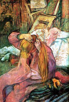 Woman Combing Her Hair, Henri de Toulouse-Lautrec - circa 1896