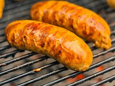 Buffalo Chicken Sausages recipe from Serious Eats. Ingredients: 4 pounds pounds skin on, boneless chicken thighs, cubed, 1 cup franks red hot buffalo wings sauce, cup franks red ho. Buffalo Chicken Sausage Recipe, Grilled Buffalo Chicken, Grilled Chicken Recipes, Chicken Dips, Buff Chicken, Feta Chicken, Chicken Sauce, Homemade Sausage Recipes, Meat Recipes