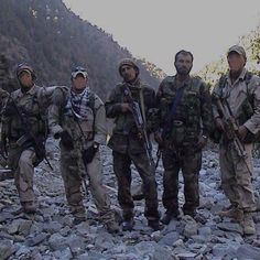 U.S. Army Green Berets on dismounted patrol in Afghanistan 2002