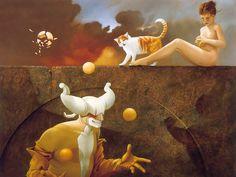 Magical art   Fantasy Magic Realism Art : Michael Parkes Magic Realism Paintings ...