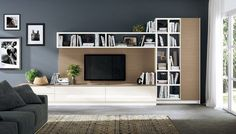 FLUIDA – Indipendent kitchen module Indipendent living rooms Line by Scavolini – Room decor bedroom Living Room Wall Units, Living Room Tv Unit Designs, Living Rooms, Wall Storage Systems, Tv Wall Decor, Tv Wall Design, Living Room Sectional, Deco Design, Room Decor Bedroom