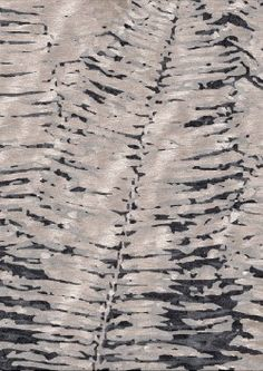 Fern Silver- Hand Knotted Rug- A beautiful organic design, inspired by nature.