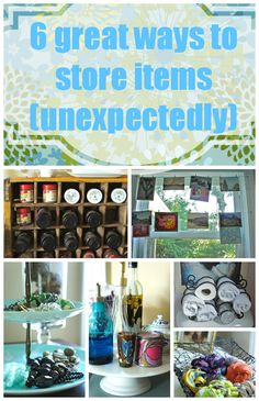 6 great ways to store items (unexpectedly)