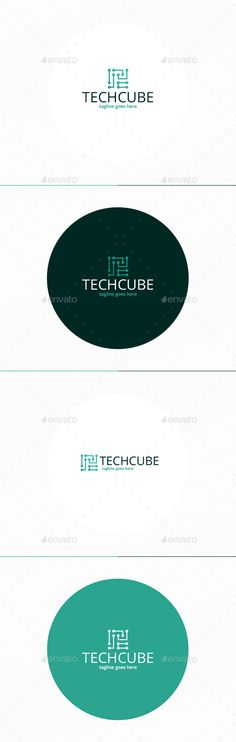 Tech Cube Logo by shaoleen • Fully Editable Logo • CMYK • AI, EPS, PSD, PNG files • Easy to Change Color and Text