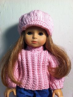 Ravelry: steepleknits' Newsboy Cap knitted for American Girl doll.