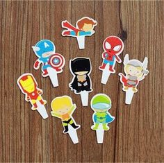 Af Kitchen  96pcs Superhero Spiderman Batman the Avengers Candy Bar Cupcake Toppers Pick Decoration Baby Shower Kids Birthday Party Supplies >>> More info could be found at the image url. (This is an affiliate link)