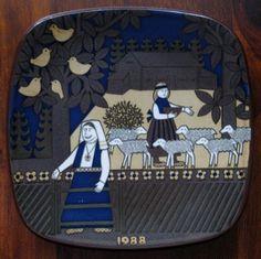 1988 Arabia Finland Kalevala annual plate designed by Raija Uosikkinen