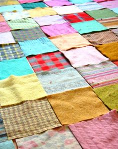 Woolly patchwork