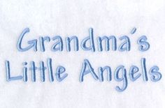 Grandma's Little Angels - 6x10 | Angels | Machine Embroidery Designs | SWAKembroidery.com Starbird Stock Designs