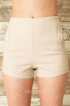 Miss Runway Fashion - Taylor Shorts - Beige