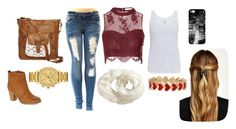 """""""mid of christmas"""" by bluewave1717 ❤ liked on Polyvore featuring Old Navy, Glamorous, T-shirt & Jeans, Madden Girl, Natasha Accessories, Majestic, Lacoste, Alison Lou and Casetify"""