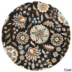 Hand-tufted Lily Pad Round Area Rug
