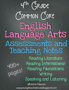 Wow! 400+ pages with 14 Reading Fictional Passages and 12 Reading Informational Passages with assessments and answer keys for the ENTIRE year! This pack also has writing prompts with student sample answer key papers of a what a level 4 writing looks like, a level 3 writing looks like, etc! Plus writing partial complete assessments and answer keys, and language assessments! You have supplements for your ENTIRE year of ELA Teaching! 4th Grade English Language Arts Assessments and Teaching…
