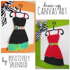 Dress-up Canvas Art Tutorial by Positively Splendid