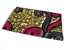 African wax print fat quarter 100 cotton Pink curls by ChilliPeppa