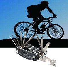 Portable 16 in 1 Multi-function 2017 Cycle Bike Repair Tool Kits Set Bicycle Accessories #EW #bicyclerepair