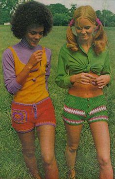 Crocheted watermelon short shorts? Oh yeah, I'd wear that.