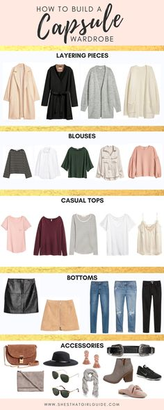 Today I am sharing how to build a capsule wardrobe with you all because it is one of my major new years resolutions for 2018! I want to grow and refine my style, and this is a great place to start! // via tailwind