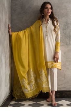 A wide range of kurtas crafted with age old techniques of embroidery and mirror work. Our efforts to revive these techniques have given job… Pakistani Fashion Casual, Pakistani Dresses Casual, Pakistani Dress Design, Indian Fashion Salwar, Kurti Designs Pakistani, Asian Fashion Indian, Indian Inspired Fashion, Kurti Pakistani, Anarkali