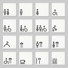 Architectural signs incorporating the Lisbon range of pictograms by Marca Designs.
