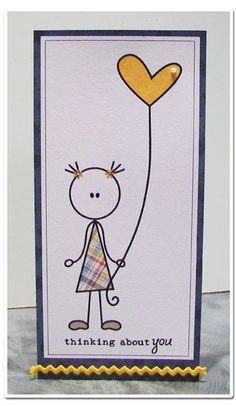 Simple card, love the digi stamp