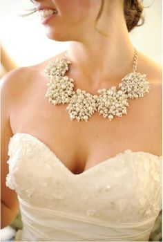 mariée, bride, mariage, wedding, necklace collier bling bling