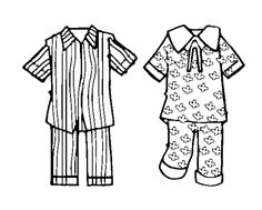 pajama clip art black and white Pajama Party Kids, Pajama Day, Pyjama-party Kinder, Super Coloring Pages, Cute Scrapbooks, Black And White Drawing, Creative Kids, Drawing For Kids, Apparel Design