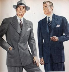 1940s Men's Clothing: Gangster and Zoot Suites Inspired Fashions