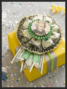 Money Rosette Origami Step-by-Step Tutorial. This uses 17 bills. Find a way to add one more for bar or bat mitzvah gift