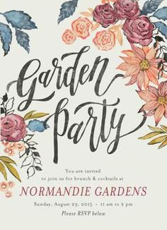 Boho Garden Party By Annie Mertlich For Minted Vote On