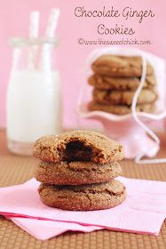 The Sweet Chick: Chocolate Ginger Cookies